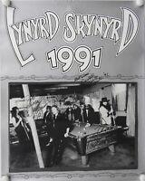Lynyrd Skynyrd JSA signed autograph Poster Leon Wilkeson Billy Powell ++