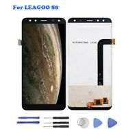 For LEAGOO S8 Black LCD Display Touch Screen and Digitizer Full Assembly Tools