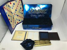 Scrabble Collectors Edition Crossword Word Game #41482 Blue Tin - 100% Complete!