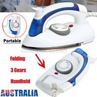 Portable Steam Iron Handheld Compact Clothes Ironing Fabric Garment Steamer