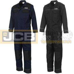Heavy Duty JCB Mens Work Overalls Coveralls Boiler Suit Boilersuit Mechanics Pro