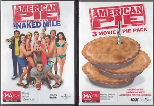 2x AMERICAN PIE DVD Sets -  4 Movies Pie 1, Pie 2, The Wedding & Naked Mile NEW