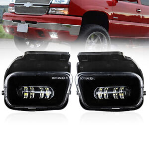 For 03-06 Chevy Silverado 1500/2500/3500 Led Bumper Fog Lights Left+Right