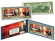 XI JINPING * President of China * Colorized $2 Bill U.S. Genuine Legal Tender