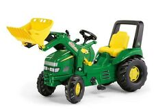 New Ride-on Rolly Toys John Deere Large Xtrac Pedal Tractor + Loader Age 3-10yrs