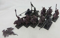 Warhammer Vampire Counts Black Knights converted oop army lot barded
