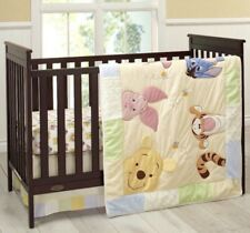 New Disney Baby Peeking Pooh 7 Piece Infant Nursery Crib Bedding Set Unisex TRU