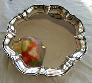 Japanese antique 995 sterling silver tea coffee tray claw feet A. SHOTEN 1178 gr