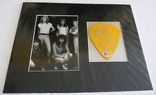"Def Leppard X3 SPhil Rick & Rick 4.5"" Guitar Pick Photo Display BAS Certified"