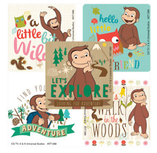 """25 Curious George Adventure Stickers, Assorted, 2.5"""" x 2.5"""" each, Party Favors"""