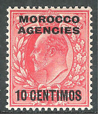 Morocco Agencies 1907 scarlet 10c on 1d mint SG113