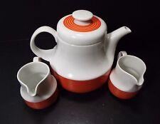 Retro Arzberg 711 Coffee Tea Pot With 2 Creamers Milk Jar H.Th. Baumann Germany
