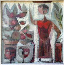 OIL Painting ~ MEXICAN MODERN ~ Figurative MID-CENTURY Ramon PRATS 1955
