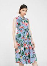 Mango Printed Bow Dress Size M/ UK 10 LF085 ii 23