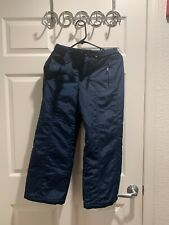 COLUMBIA Boys Youth Sz 10/12 Insulated Snow Ski Pants Color Blue EUC!!!