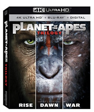 Planet of The Apes Trilogy UHD 4k BLURAY Rise Dawn War