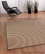 NEW THICK PILE MID-DARK BEIGE CLEARANCE DISCOUNT MODERN CLEARANCE RUG 120x170cm