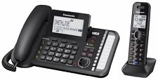Panasonic 2-Line Corded/Cordless Phone System with Link2Cell (KX-TG9581B)