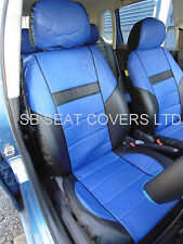 VOLVO V40 / V50 / V60 / V70 CAR SEAT COVERS ROSSINI ROS 0212 BLUE LEATHERETTE