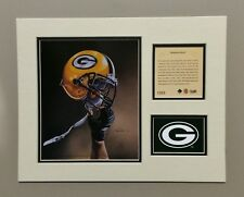 Green Bay Packers 1994 Matted Football Helmet Lithograph Print