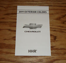 Original 2011 Chevrolet HHR Exterior Colors Foldout Sales Brochure 11 Chevy
