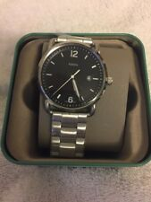 NWT THE COMMUTER THREE-HAND DATE STAINLESS STEEL WATCH FS5391 List $115