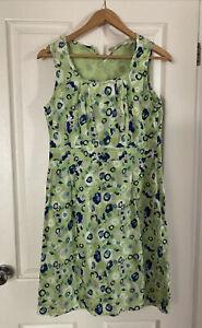 Adini Green Patterned Dress Size Small 10/12