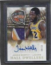 JAMES WORTHY 2013-14 PANINI INTRIGUE HALL DWELLERS 3 COLOR LAKERS PATCH AUTO /10