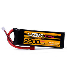 Lipo Battery for RC Helicopter Airplane Drone T-Plug 11.1V 2200mAh 25C 3S VOK