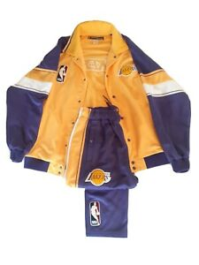 Hardwood classics Reebok Los Angeles Lakers Warm Up Jacket And Pant Set XL Vtg