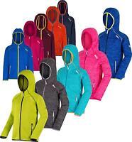 Regatta Dissolver Kids Fleece Hooded Full Zip Fleece Jacket Girls Boys Hoodie