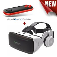 Virtual Reality VR 3D Glasses with Headset Remote Control for Android IOS iPhone