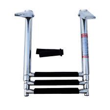 Excellent 3 Step Stainless Steel Telescoping Marine Boat Ladder Upper Platform