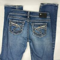 Silver Suki Mid Straight Leg Jeans Medium Wash Casual Trendy Size 28 / US 6