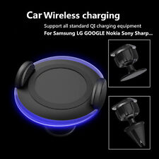Wireless Car Charger Dock Air Vent Dashboard Mount Holder For HTC Samsung Galaxy