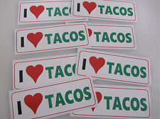 8 I Love TACOS Car or Truck Window Decal Bumper Sticker Wholesale Low Price