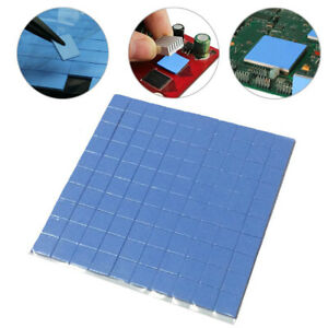 100pcs 100x100x1mm GPU CPU Heatsink Cooling Thermal Conductive Silicone Pad