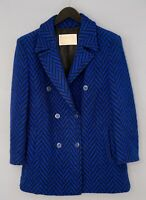 Women Pendleton Trench Coat Blue Wool Casual Business L UK14 VAT253