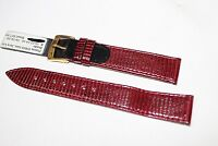 18MM GENUINE LIZARD MADE IN ITALY BURGUNDY WATCH BAND  SWISS WATCHES