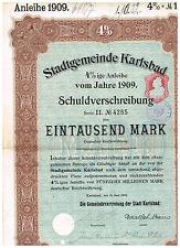 Stadtgemeinde Karlsbad, 1909, 1000 Mark
