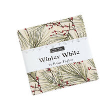 Winter White, Moda, Christmas 100% Cotton Fabric, Charm Pack. 42 x5 Inch Squares