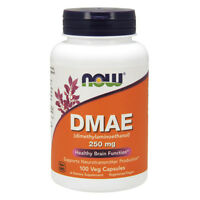 NOW FOODS DMAE - 250 mg - 100 Veg Capsules - Dimetilaminoetanolo