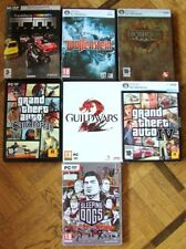 LOT 7 JEUX GAME PC GRAND THEFT AUTO BIOSHOCK SLEEPING DOGS GUILDWARS WOLFENSTEIN