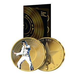 Legends of Music Collection 24 Carat Gold Commemorative Coin Collection Series