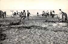 BR11656 Farinette Plage pres Vias La Peche e la Traine   real photo  france