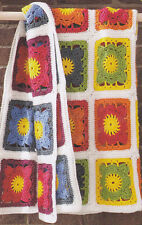 Crochet Pattern ~ KALEIDOSCOPE RAINBOW BLANKET Afghan ~ Instructions