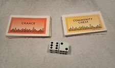 MONOPOLY 1998 DELUXE EDITION BOARD GAME DICE CHANCE COMMUNITY CARDS REPLACEMENT