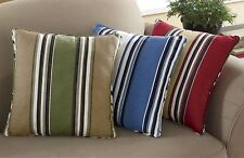 Cotton Striped Decorative Throw Pillows/Cushions in 5 assorted colors set of 2