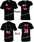 Mickey and Minnie Disney Holding hands Couple matching funny cute TShirt S-4XL