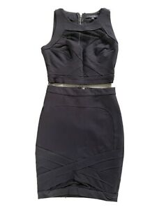 Guess Cropped Top And Skirt Black